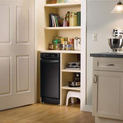 15 in. Convertible Trash Compactor in Black