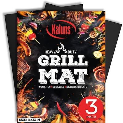 Reusable Heat Resistant BBQ Grill Mat (Set of 3)