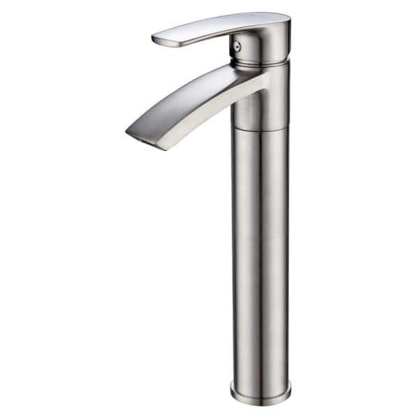 Eisen Home Ariana 12 In Single Hole Single Handle Vessel Bathroom Faucet With Swivel Spout In Brushed Nickel Eh Df13302 Bn The Home Depot