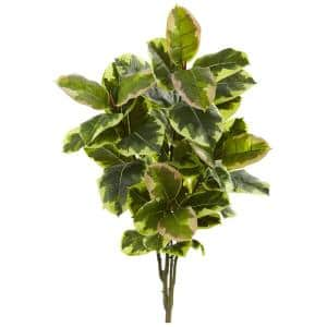 Indoor 40 in. Rubber Leaf Artificial Plant Real Touch (2-Set)