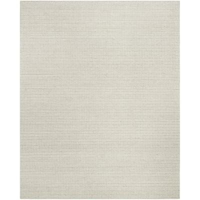 Natura Silver/Ivory 8 ft. x 10 ft. Striped Solid Gradient Area Rug