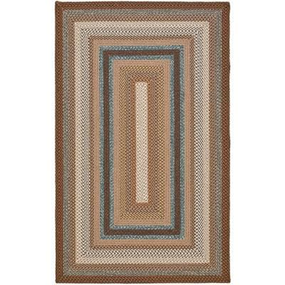 Braided Brown/Multi 9 ft. x 12 ft. Area Rug