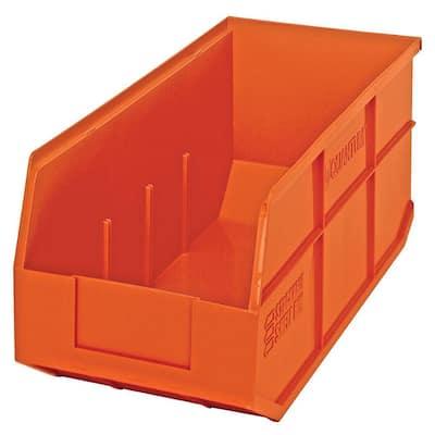 Stackable Shelf 18-Qt. Storage Tote in Orange (6-Pack)