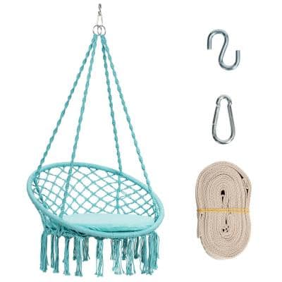 2.6 ft. Portable Hammock Chair in Turquoise