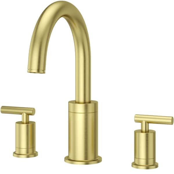 contempra 2 handle deck mount roman tub faucet trim kit in brushed gold