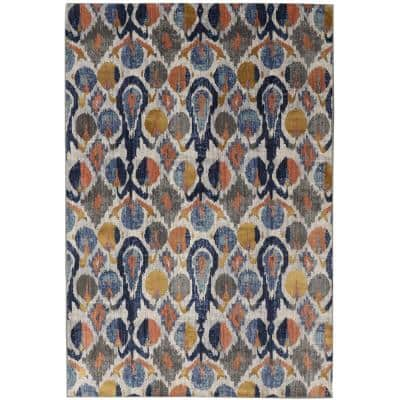 Painted Ikat Indigo 9 ft. 6 in. x 12 ft. 11 in. Area Rug