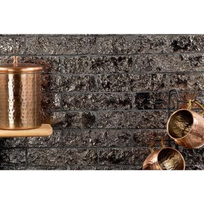 Weston Temp Gold 2 in. x 8 in. 14mm Glazed Clay Subway Wall Tile (40-piece 4.78 sq. ft. / box)