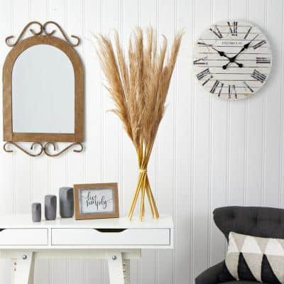 40 in. Artificial Dried Natural Pampas Grass Bundle (Set of 2)