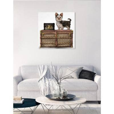 'Travelling Yorkie' by Oliver Gal Printed Wall Art