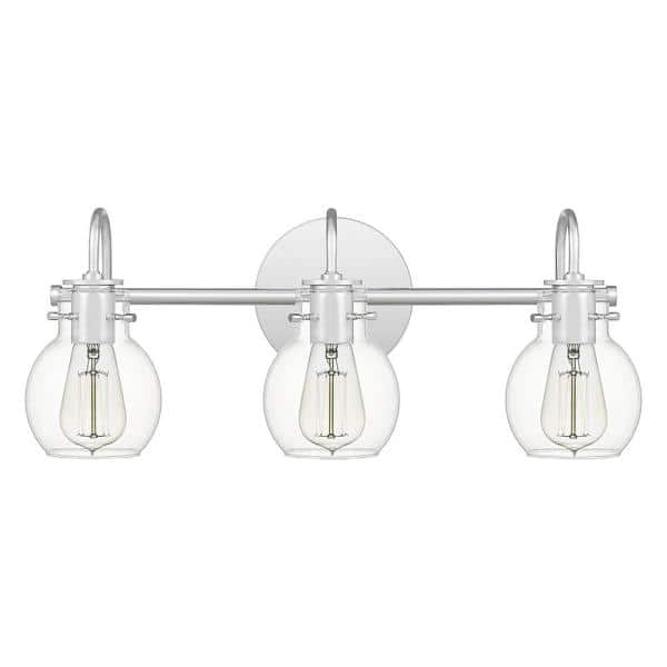 Quoizel Andrews 3 Light Polished Chrome Vanity Light Anw8603c The Home Depot