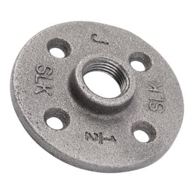 1/2 in. Malleable Industrial Cast Iron 10-Pack Flange in Industrial Steel Grey