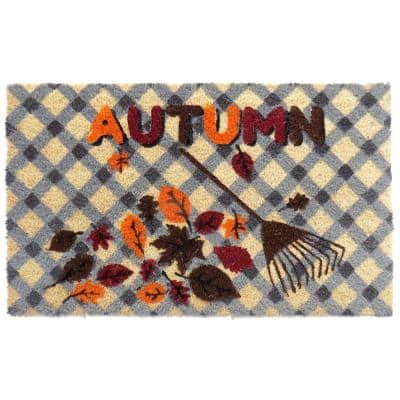 Autumn 30 in. x 18 in. Rubber Backed Door Mat