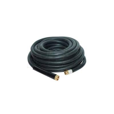 25 ft. Industrial Rubber Garden Water Hose with Brass Fittings
