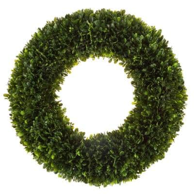19 in. Wreath with Grapevine Base Artificial Tea Leaf
