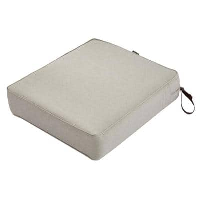 Montlake 23 in. W x 25 in. D x 5 in. Thick Heather Grey Outdoor Lounge Chair Cushion