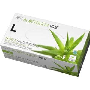 Aloetouch Ice Green Powder Free Nitrile Gloves (100-Pairs)