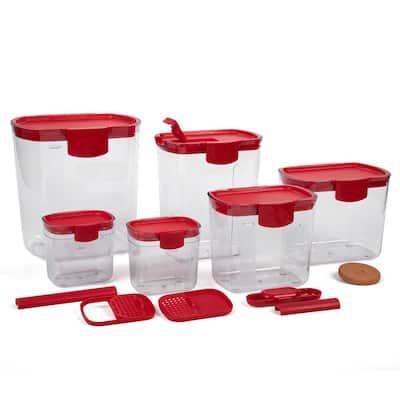 Prepworks ProKeeper Red 6-Piece Storage Container Set