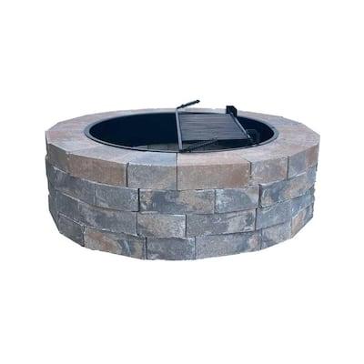 Easton 55 in. Round Concrete Napoli Fire Pit Kit