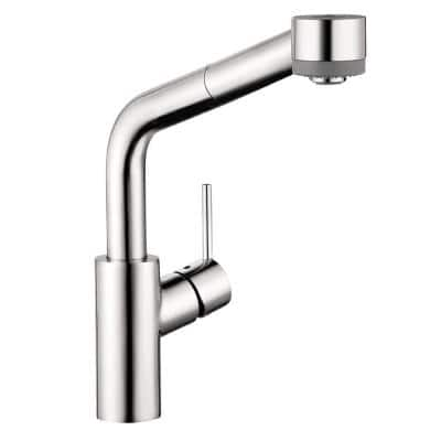 Talis S Single-Handle Pull Out Sprayer Kitchen Faucet in Chrome