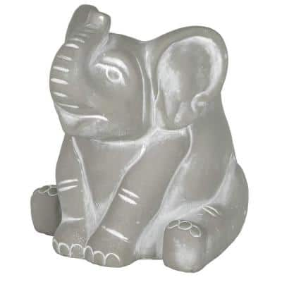 Small Natural Cement Elephant Planter