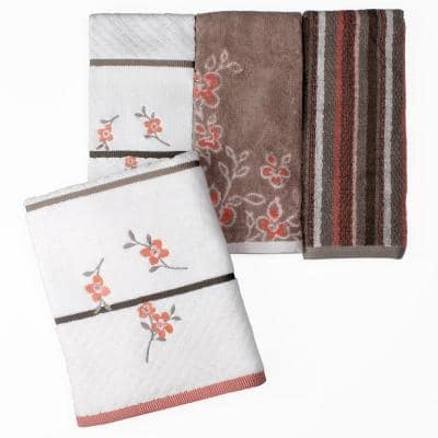 Coral Garden Coral Stripe Cotton Single Hand Towel
