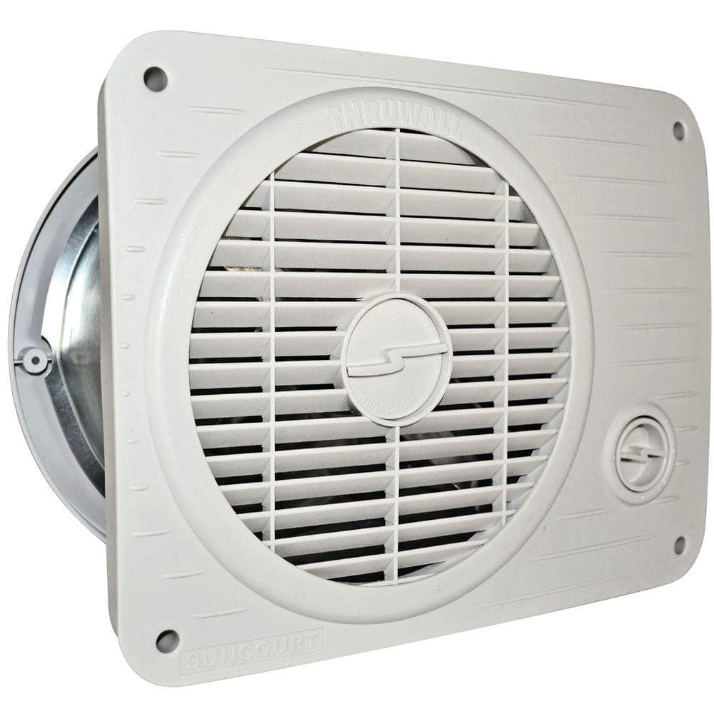 suncourt thru wall fan hardwired variable speed tw208p the home depot