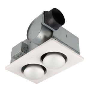 70 CFM Ceiling Bathroom Exhaust Fan with Infrared Heater and Light