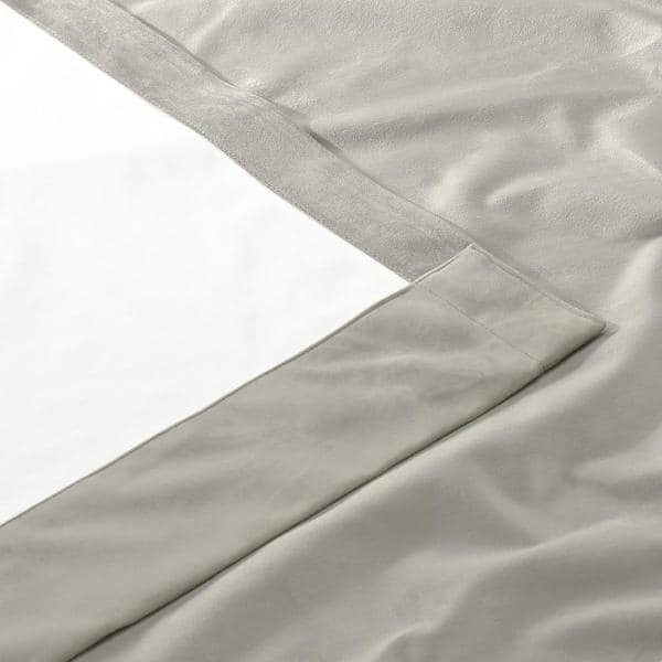 Exclusive Fabrics Furnishings Silvery Taupe Velvet Grommet Blackout Curtain 50 In W X 96 In L Vpyc Cbo1909 96 The Home Depot