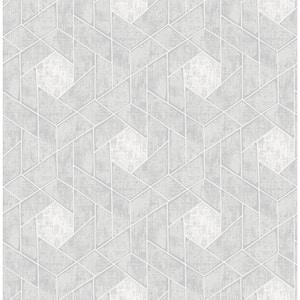 Granada Light Grey Geometric Light Grey Wallpaper Sample