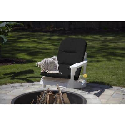 20.5 x 49 Sunbrella Canvas Black Outdoor Adirondack Chair Cushion