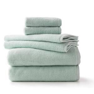 6-Piece Mint LuxuryCotton Towel Set