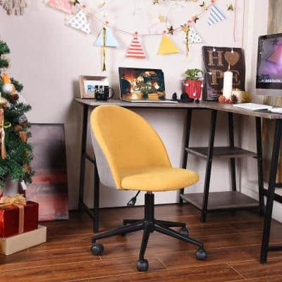 18.1 in. Width Standard Yellow Fabric Task Chair with Adjustable Height