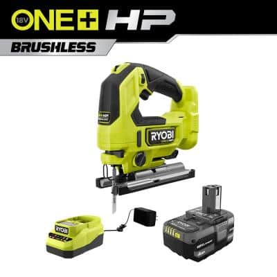 ONE+ HP 18V Brushless Cordless Jig Saw Kit with (1) 4.0 Ah Battery and Charger