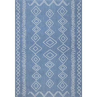 Serna Moroccan Diamonds Blue 11 ft. x 15 ft. Indoor/Outdoor Area Rug
