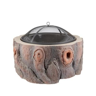 29.53 in. W x 31.50 in. H Outdoor Round Natural Fire Pit