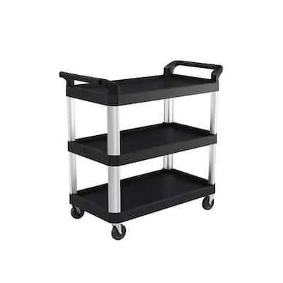 3-Shelf Plastic Wheeled Service Cart