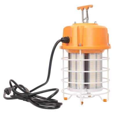 12 in. 450-Watt Equivalent Integrated LED Portable Temporary Work Light High Bay Light 7500 Lumens UL Listed Linkable