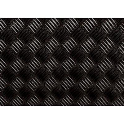 59 in. x 17 in. Black Diamond Plate Decorative Vinyl Film