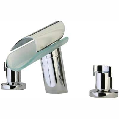 Morgana 8 in. Widespread 2-Handle Low-Arc Bathroom Faucet in Chrome