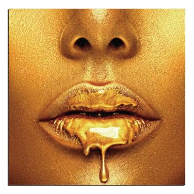 """Oppidan Home """"Dripping in Gold"""" Acrylic Wall Art (40""""H X 40""""W)"""