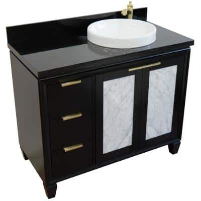 42 Inch Vanities Sink On Right Side Bathroom Vanities Bath The Home Depot