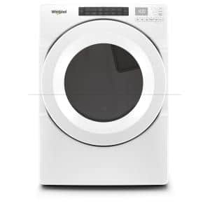 7.4 cu. ft. 240-Volt White Electric Dryer with Intuitive Touch Controls and Advanced Moisture Sensing, ENERGY STAR