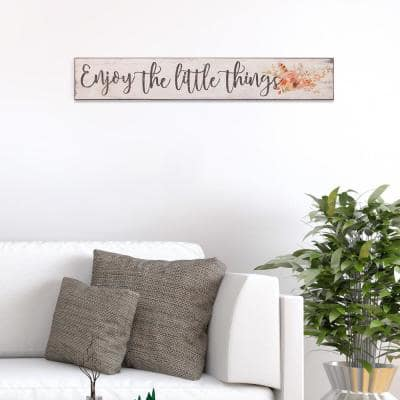 Enjoy The Little Things Rustic Wood Sign