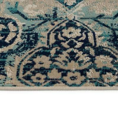 Ikat Blue Outdoor Rugs Rugs The Home Depot