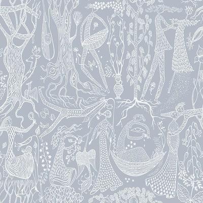 Poem d Amour Slate Folk Slate Wallpaper Sample