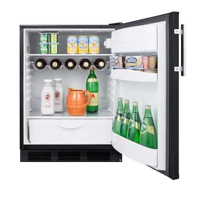 24 in. W 5.5 cu. ft. Freezerless Refrigerator in Black