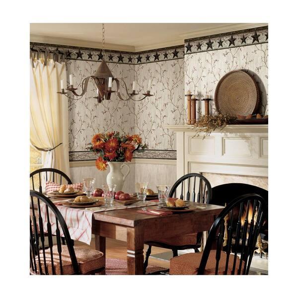 Chesapeake Graham Cream Rustic Star, Wallpaper Borders For Dining Rooms