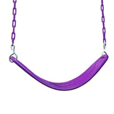 Extreme-Duty Plum Belt Swing with Purple Chains