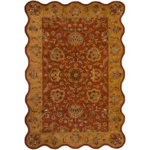 Heritage Red/Natural 6 ft. x 9 ft. Area Rug