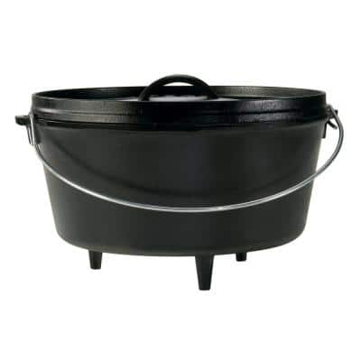 8 Qt. Cast Iron Deep Dutch Oven with Lid and Bail Handle